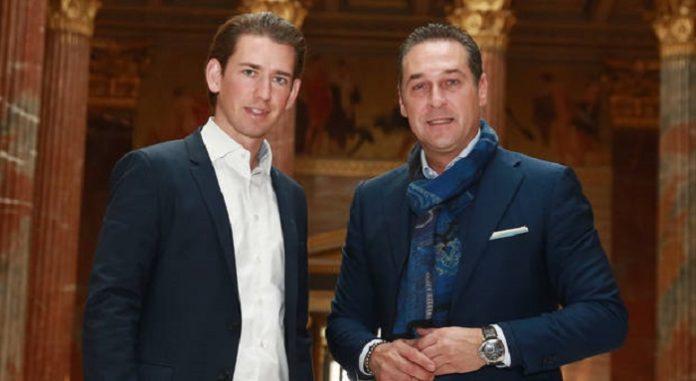 Eine türkis-blaue Liaison ist laut Umfrage klarer Favorit der Österreicher für die nächste Regierung - Sebastian Kurz (l.) mit HC-Strache.