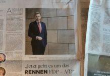 """Großes Interview heute auf Seite 4 der """"Welt am Sonntag"""" mit Christian Lindner, dem Ehemann der stellv. WamS-Chefin Dagmar Rosenfeld-Lindner. Ein Schelm wer böses dabei denkt..."""