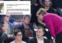 Petra Vogel (DIE LINKE) in der Sendung Klartext mit Angela Merkel.