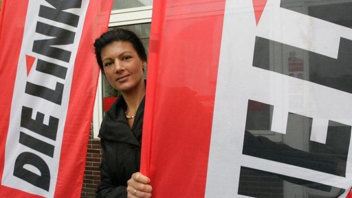 Wegen ihres attraktiven Äußeren auch beliebt bei vielen deutschen Patrioten - Sahra Wagenknecht.