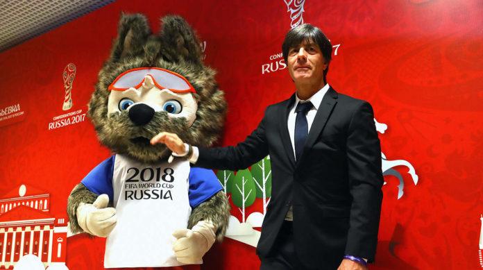 """Fußball-Bundestrainer Joachim Löw wollte beim Confed-Cup in der russischen Großstadt Kasan eine Aktion """"für religiöse Vielfalt"""" inszenieren."""
