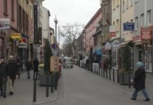 Türkische Straße im Mannheimer Stadtteil Jungbusch.