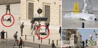 Szene am Tatort in Marseille.