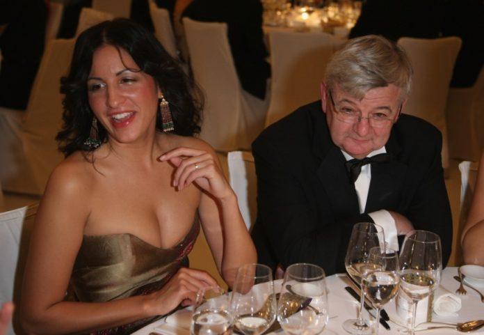 Minu Barati und Joschka Fischer.