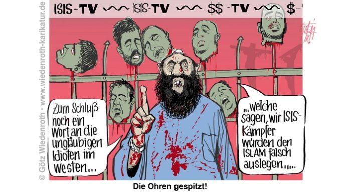 Karikatur: Götz Wiedenroth.