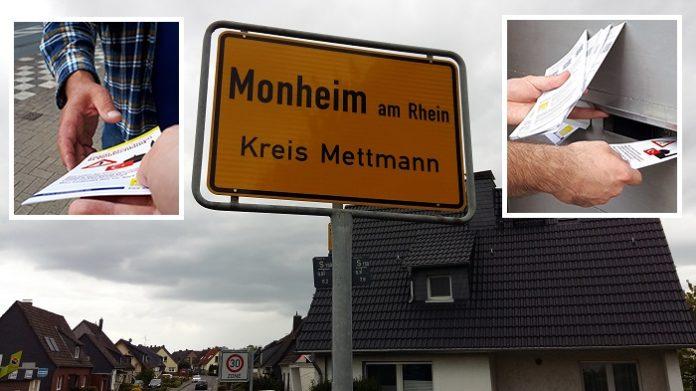 Die Bürgerbewegung Pax Europa (BPE) war schon das dritte Mal in Monheim, um die Anwohner über die Moscheebaupläne der DITIB aufzuklären.