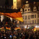 Pegida-Kundgebung in Dresden.
