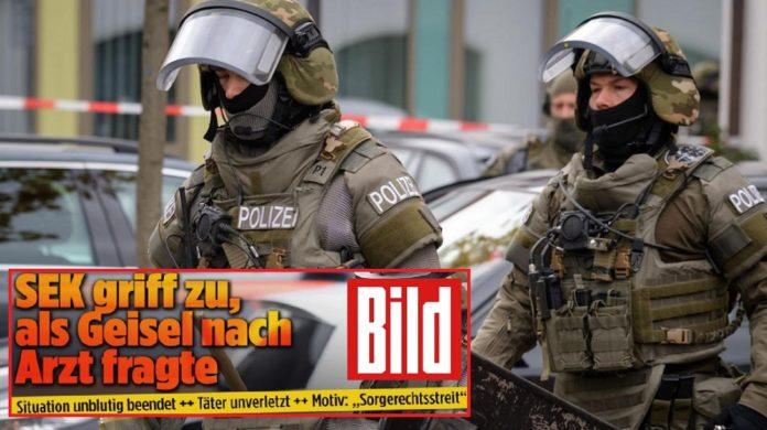 Polizeieinsatz in Pfaffenhofen (Fotocollage mit