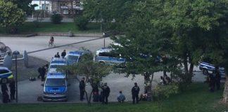 Polizeieinsatz am Kölner Ebertplatz.