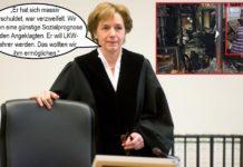 """RichterinRenata Bürgel; kleines Bild re: Das Innere des abgebrannten Lokals und Mahir Q., der das mit nur """"wenig krimineller Energie"""" erledigt hat."""
