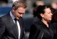 FDP-Chef Christian Lindner mit seiner Frau Dagmar Rosenfeld (stellvertretende Chefredakteurin von WeltN24).
