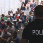 "Aufgegriffene ""Flüchtlinge"" am Bahnhof Rosenheim."
