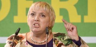 Claudia Roth hetzte am 30.9.2017 in Berlin beim Länderrat (Kleiner Parteitag der Grünen) gegen die AfD.