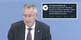 Tweet von Bundeswahlleiter Dieter Sarreither.