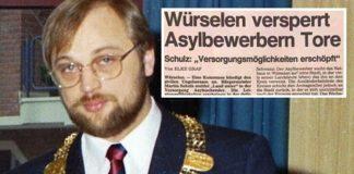 Martin Schulz 1988 als Bürgermeister von Würselen (NRW).