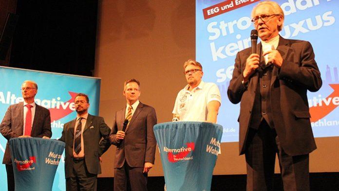 Kompetenz pur (v.l.n.r.): Dr. Roland Hartwig, Prof. Harald Weyel, Moderator Martin Schiller, Guido Reil und Martin Renner.