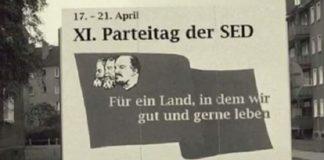 Das im Internet kursierende SED-Plakat zum elften Parteitag der DDR-Staatspartei hat sich als Fake herausgestellt.