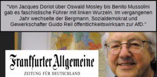 Es kommt zusammen, was zusammen gehört: Früher NVA-Spitzel, jetzt FAZ-Autor - Günter Platzdasch.