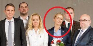 Der Vorstand der AfD-Thüringen mit Steffi Brönner (rot umkreist).