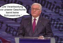 Bundespräsident Frank Walter Steinmeier bei seiner Rede zu den Feierlichkeiten zum 3. Oktober 2017.