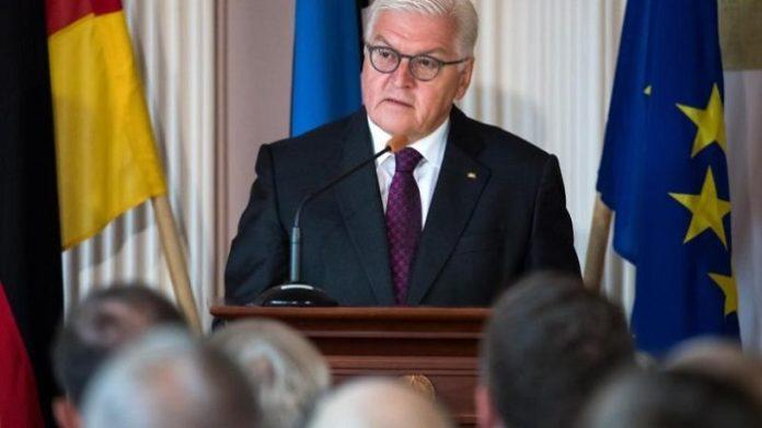 Steinmeier bei seiner Rede in Tallinn.