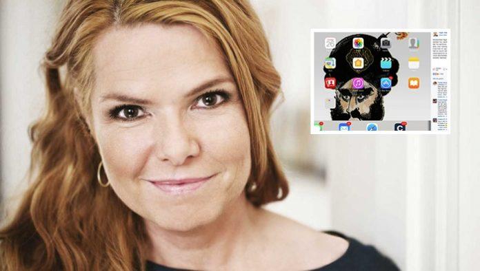 So hübsch sind dänische Politikerinnen: Integrationsministerin Inger Støjberg und ihr iPad-Hintergrundbild.