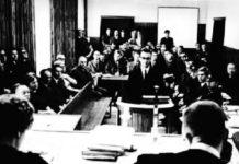 Peter Kienesberger beim Prozess in Wien im Dezember 1968 (der mit einem Freispruch endete).