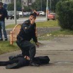Der Täter in Surgut konnte von der Polizei überwältigt werden.