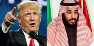 US-Präsident Donald Trump (li.); Mohammed bin Salman al-Saud, Saudischer Kronprinz (re.).