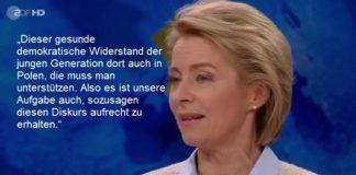 """Ursula von der Leyens Äußerung während der """"Maybrit Illner""""-Sendung sorgt für harsche Kritik im In- und Ausland."""