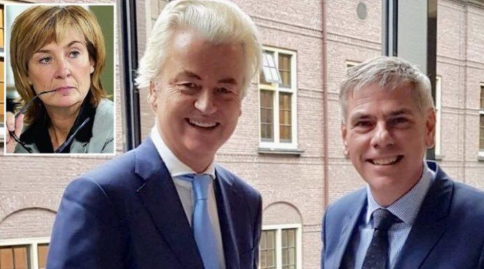 Geert Wilders (PVV) und Filip Dewinter (Vlaams Belang) wollen gemeinsam Molenbeek und andere islamisierte Viertel Belgiens besuchen, kleines Bild: BM Francoise Schepmans.